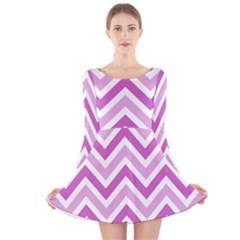 Zig zags pattern Long Sleeve Velvet Skater Dress