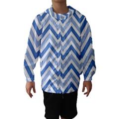 Zig zags pattern Hooded Wind Breaker (Kids)