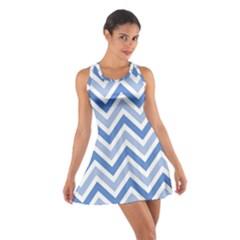 Zig zags pattern Cotton Racerback Dress