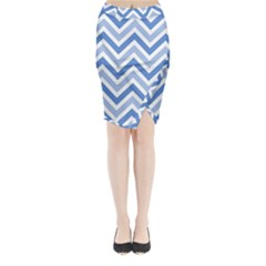 Zig zags pattern Midi Wrap Pencil Skirt