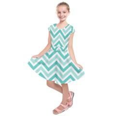 Zig zags pattern Kids  Short Sleeve Dress