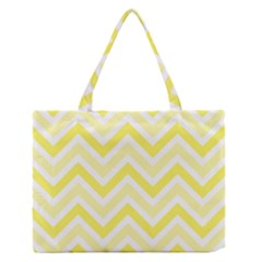 Zig zags pattern Medium Zipper Tote Bag