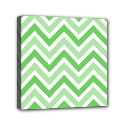 Zig zags pattern Mini Canvas 6  x 6