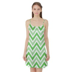Zig zags pattern Satin Night Slip