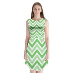 Zig zags pattern Sleeveless Chiffon Dress
