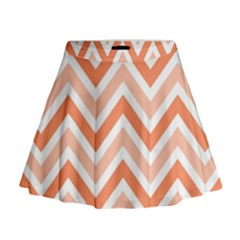 Zig zags pattern Mini Flare Skirt