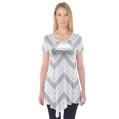 Zig zags pattern Short Sleeve Tunic