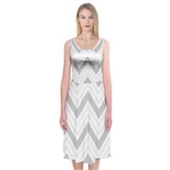 Zig zags pattern Midi Sleeveless Dress
