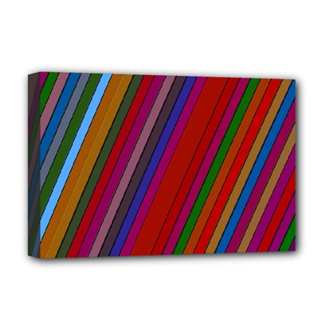 Color Stripes Pattern Deluxe Canvas 18  x 12