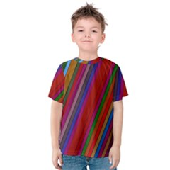 Color Stripes Pattern Kids  Cotton Tee
