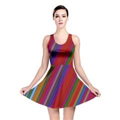 Color Stripes Pattern Reversible Skater Dress