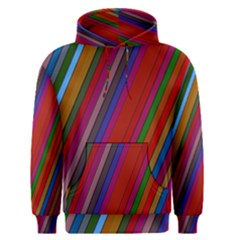 Color Stripes Pattern Men s Pullover Hoodie