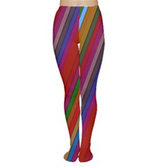 Color Stripes Pattern Women s Tights