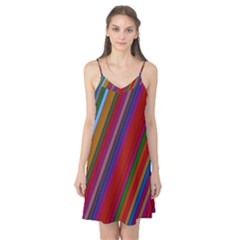 Color Stripes Pattern Camis Nightgown