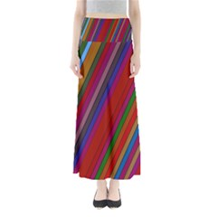 Color Stripes Pattern Maxi Skirts