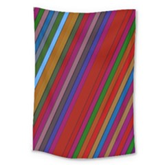 Color Stripes Pattern Large Tapestry