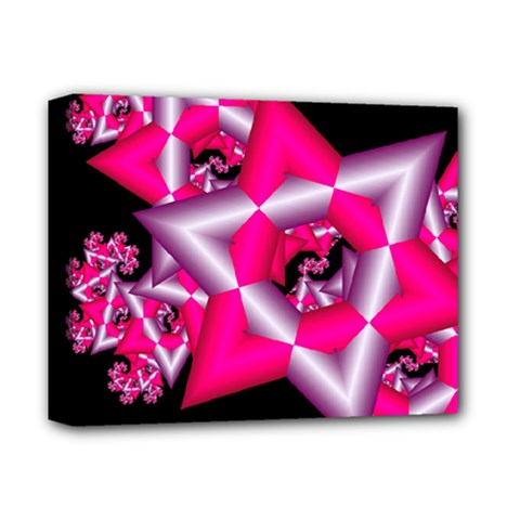 Star Of David On Black Deluxe Canvas 14  x 11