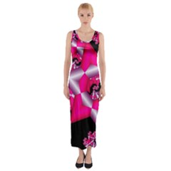 Star Of David On Black Fitted Maxi Dress