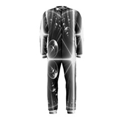 Black And White Bubbles On Black OnePiece Jumpsuit (Kids)