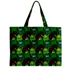 Seamless Little Cartoon Men Tiling Pattern Zipper Mini Tote Bag