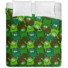 Seamless Little Cartoon Men Tiling Pattern Duvet Cover Double Side (california King Size)