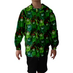 Seamless Little Cartoon Men Tiling Pattern Hooded Wind Breaker (kids)