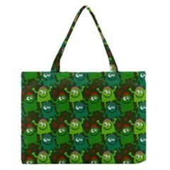 Seamless Little Cartoon Men Tiling Pattern Medium Zipper Tote Bag