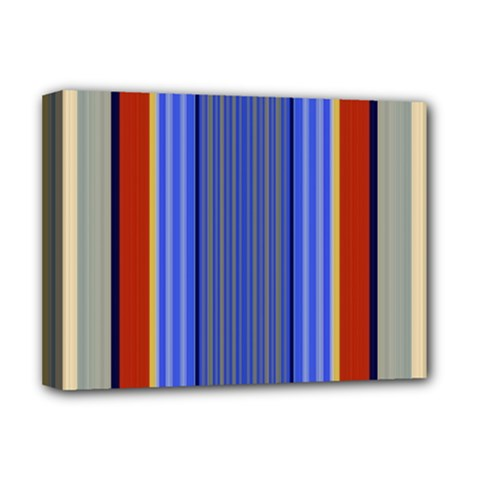 Colorful Stripes Background Deluxe Canvas 16  X 12