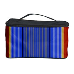 Colorful Stripes Background Cosmetic Storage Case