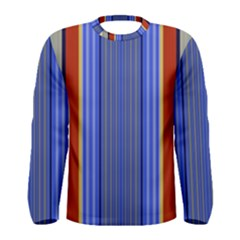 Colorful Stripes Background Men s Long Sleeve Tee