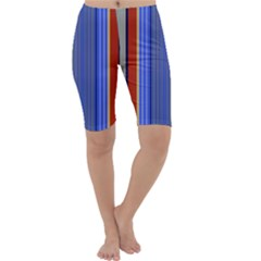Colorful Stripes Background Cropped Leggings
