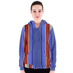 Colorful Stripes Background Women s Zipper Hoodie