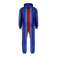 Colorful Stripes Background Hooded Jumpsuit (Kids)