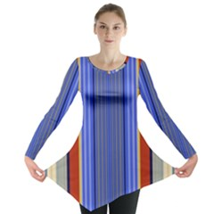 Colorful Stripes Background Long Sleeve Tunic