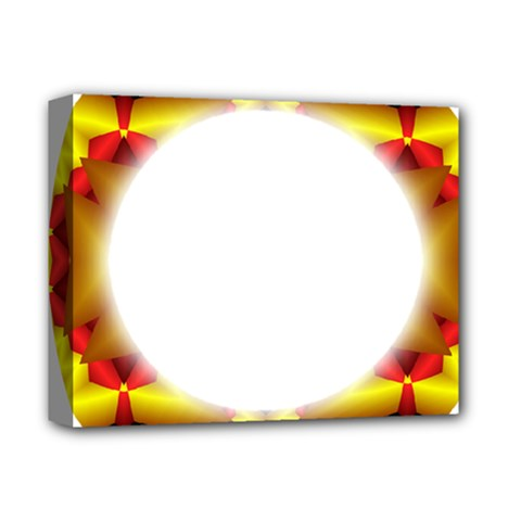 Circle Fractal Frame Deluxe Canvas 14  x 11