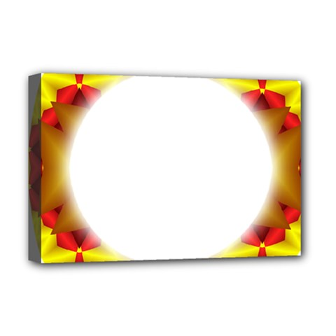 Circle Fractal Frame Deluxe Canvas 18  x 12