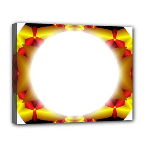 Circle Fractal Frame Deluxe Canvas 20  X 16