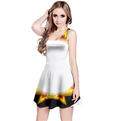 Circle Fractal Frame Reversible Sleeveless Dress