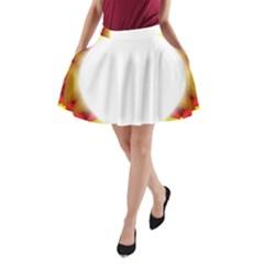 Circle Fractal Frame A-Line Pocket Skirt
