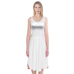 Circle Fractal Frame Midi Sleeveless Dress