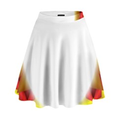 Circle Fractal Frame High Waist Skirt