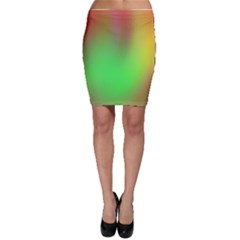 November Blurry Brilliant Colors Bodycon Skirt