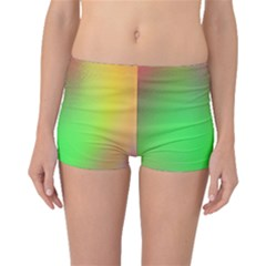 November Blurry Brilliant Colors Boyleg Bikini Bottoms