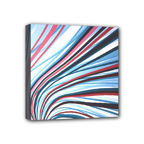 Wavy Stripes Background Mini Canvas 4  X 4