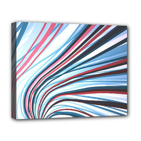 Wavy Stripes Background Deluxe Canvas 20  x 16