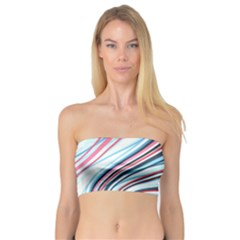 Wavy Stripes Background Bandeau Top