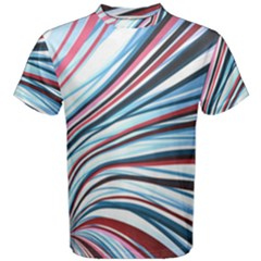 Wavy Stripes Background Men s Cotton Tee