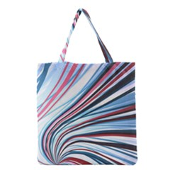 Wavy Stripes Background Grocery Tote Bag