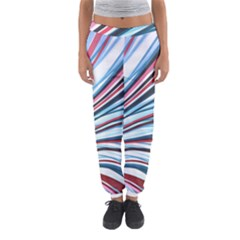 Wavy Stripes Background Women s Jogger Sweatpants