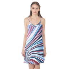 Wavy Stripes Background Camis Nightgown